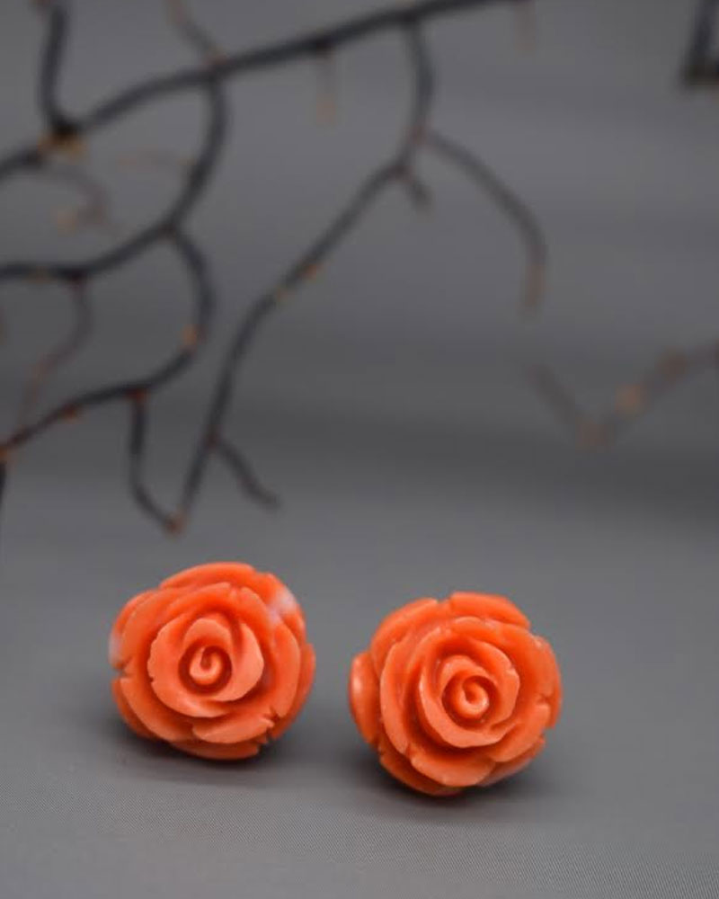 Orecchini Corallo rosa corti