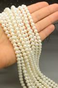 Perle di fiume sferiche 1a scelta con chiusura in argento 924