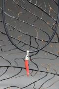 cornetto di corallo 3a misura con collana di caucciù