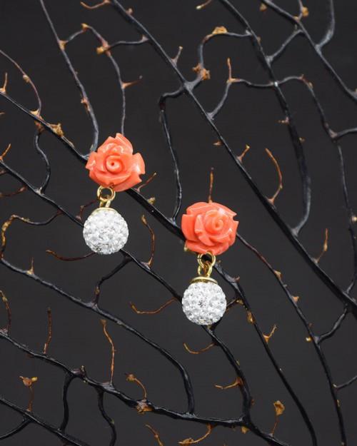 Rose di Corallo e Swarovsky
