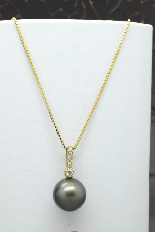Ciondolo perla nera di tahiti