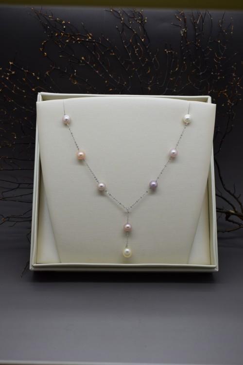 collier mikiko con perle multicolor