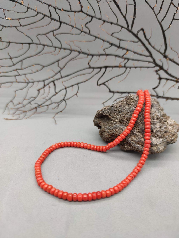 Collana di corallo rosso arancio